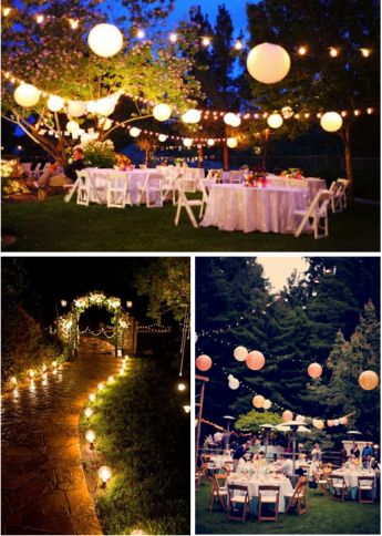 How to decorate your backyard quince in 5 easy steps - Patio de luces decoracion ...
