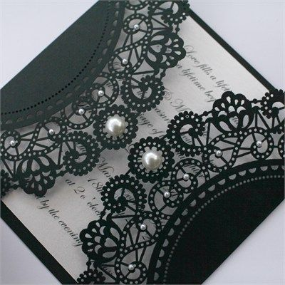 Have a Black White Affair Themed XV Quinceanera – Black and White Theme Party Invitations