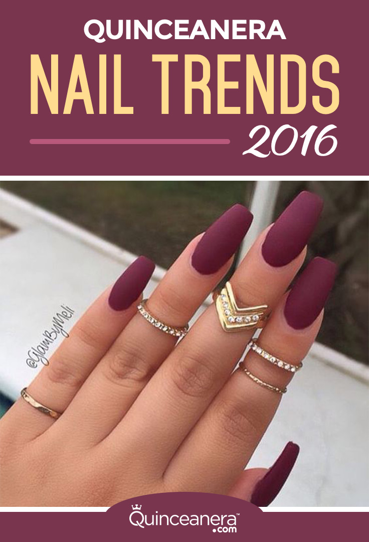Trend Nail Art: Quinceanera Nail Trends 2016